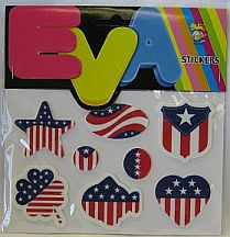 Missing image <116314.jpg> Group: 6314 - #6314 US FLAG MOTIF STICKERS  Close Out  12 pc min  .25 each