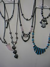 Missing image <17423hematitenlasstw.jpg> Group: 4231 - HEMATITE MAGNETIC NECKLACE ASSORTMENT